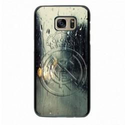 Coque noire pour Samsung A530/A8 2018 emblème Real Madrid club foot Ronaldo