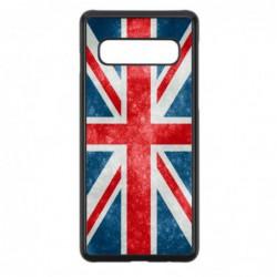 Coque noire pour Samsung S6 Drapeau Royaume uni - United Kingdom Flag