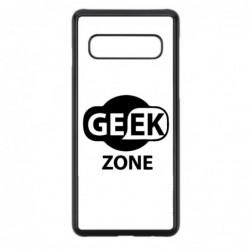Coque noire pour Samsung Note 4 Logo Geek Zone noir & blanc