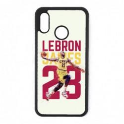 Coque noire pour Huawei P8 Lite star Basket Lebron James Cavaliers de Cleveland 23