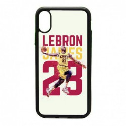 Coque noire pour IPHONE X et IPHONE XS star Basket Lebron James Cavaliers de Cleveland 23