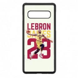 Coque noire pour Samsung S9 PLUS star Basket Lebron James Cavaliers de Cleveland 23