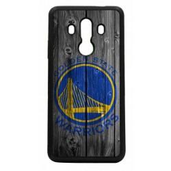 Coque noire pour Huawei P8 Lite 2017 Stephen Curry emblème Golden State Warriors Basket fond bois