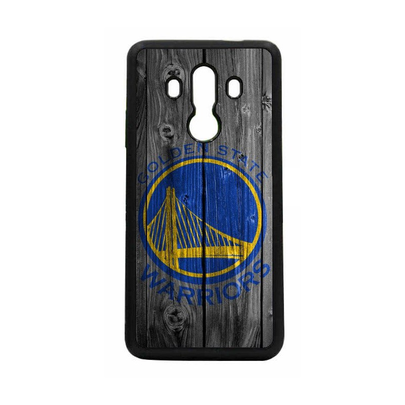Coque noire personnalisée pour Smartphone Huawei P8 Lite 2017 Stephen Curry emblème Golden State Warriors Basket fond bois