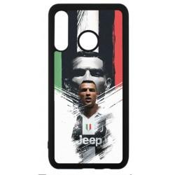 Coque noire pour Huawei P30 Lite Ronaldo CR7 Juventus Foot