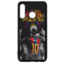 Coque noire pour Huawei P30 Lite Lionel Messi 10 FC Barcelone Foot