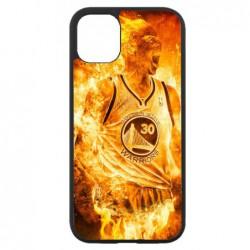 Coque noire pour Iphone 11 Stephen Curry Golden State Warriors Basket - Curry en flamme