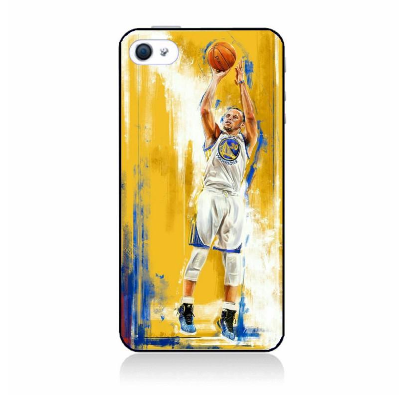 Coque noire personnalisée pour Smartphone IPHONE 5C Stephen Curry Golden State Warriors Shoot Basket