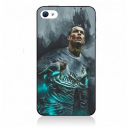 Coque noire pour iPhone XR Ronaldo Football Real Madrid
