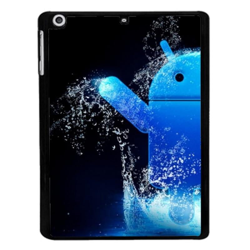Coque noire pour Huawei Mate 10 Pro Bugdroid petit robot android bleu dans l'eau