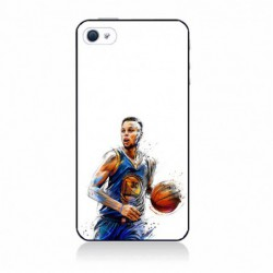 Coque noire pour IPHONE 4/4S Stephen Curry Golden State Warriors dribble Basket
