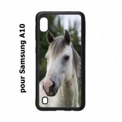 Coque noire pour Samsung Galaxy A10 Coque cheval blanc - tête de cheval