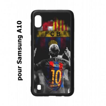 Coque noire pour Samsung Galaxy A10 Lionel Messi FC Barcelone Foot