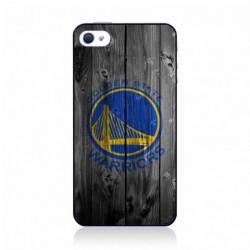 Coque noire pour IPHONE 5C Stephen Curry emblème Golden State Warriors Basket fond bois