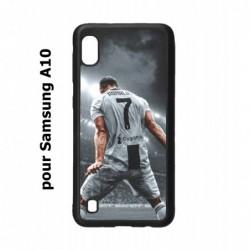 Coque noire pour Samsung Galaxy A10 Cristiano Ronaldo Juventus Turin Football stade