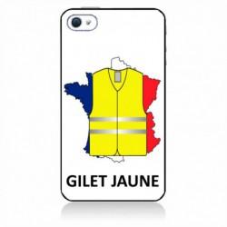 Coque noire pour IPHONE 4/4S France Gilets Jaunes - manifestations Paris