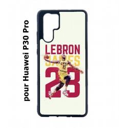 Coque noire pour Huawei P30 Pro star Basket Lebron James Cavaliers de Cleveland 23