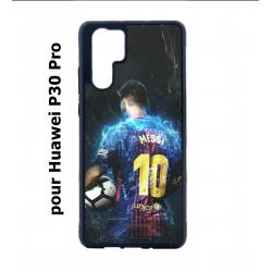 Coque noire pour Huawei P30 Pro Lionel Messi FC Barcelone Foot