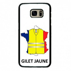 Coque noire pour Samsung S2 France Gilets Jaunes - manifestations Paris
