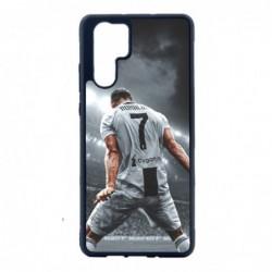 Coque noire pour Huawei P30 Cristiano Ronaldo Juventus Turin Football stade