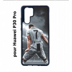 Coque noire pour Huawei P30 Pro Cristiano Ronaldo Juventus Turin Football stade