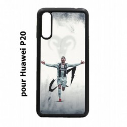 Coque noire pour Huawei P20 Cristiano Ronaldo Juventus Turin Football CR7