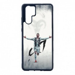 Coque noire pour Huawei P30 Cristiano Ronaldo Juventus Turin Football CR7