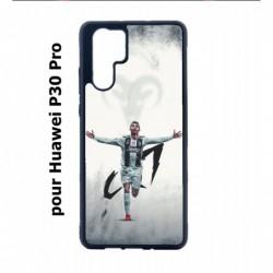 Coque noire pour Huawei P30 Pro Cristiano Ronaldo Juventus Turin Football CR7