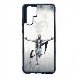 Coque noire pour Huawei P8 Lite Cristiano Ronaldo Juventus Turin Football CR7