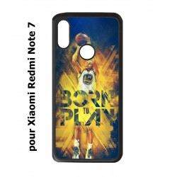Coque noire pour Redmi Note 7 Stephen Curry NBA Golden State Born to Play
