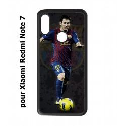 Coque noire pour Redmi Note 7 Messi Lionel Barcelone Club Barça Football numéro 10