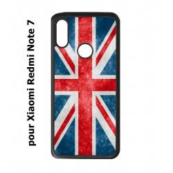 Coque noire pour Redmi Note 7 Drapeau Royaume uni - United Kingdom Flag