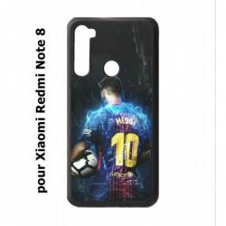 Coque noire pour Xiaomi Redmi Note 8 Lionel Messi FC Barcelone Foot