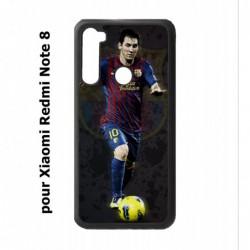 Coque noire pour Xiaomi Redmi Note 8 Messi Lionel Barcelone Club Barça Football numéro 10