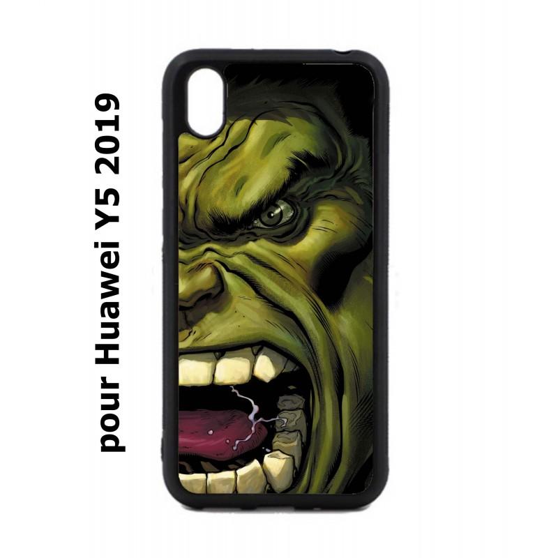 Coque noire pour Huawei Y5 2019 Monstre Vert Hulk Hurlant