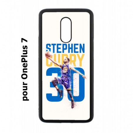 Coque noire pour OnePlus 7 Stephen Curry Basket NBA Golden State
