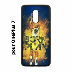 Coque noire pour OnePlus 7 Stephen Curry NBA Golden State Born to Play