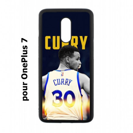 Coque noire pour OnePlus 7 Stephen Curry Golden State Warriors Basket 30