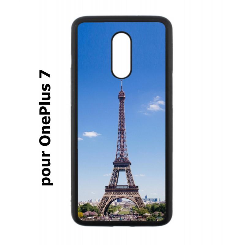 Coque noire pour OnePlus 7 Tour Eiffel Paris France