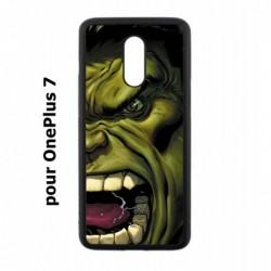 Coque noire pour OnePlus 7 Monstre Vert Hulk Hurlant