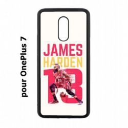 Coque noire pour OnePlus 7 star Basket James Harden 13 Rockets de Houston