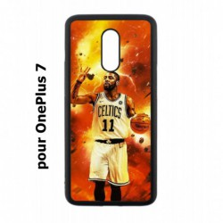 Coque noire pour OnePlus 7 star Basket Kyrie Irving 11 Nets de Brooklyn