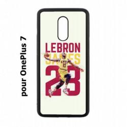 Coque noire pour OnePlus 7 star Basket Lebron James Cavaliers de Cleveland 23