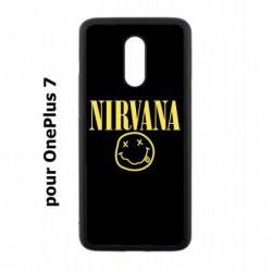 Coque noire pour OnePlus 7 Nirvana Musique