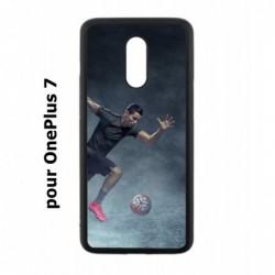 Coque noire pour OnePlus 7 Cristiano Ronaldo Juventus Turin Football course ballon