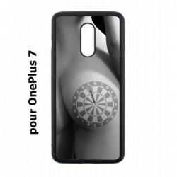 Coque noire pour OnePlus 7 coque sexy Cible Fléchettes - coque érotique
