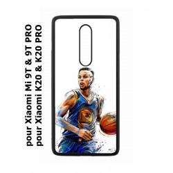 Coque noire pour Xiaomi Mi 9T - Mi 9T PRO - Redmi K20 - K20 PRO Stephen Curry Golden State Warriors dribble Basket