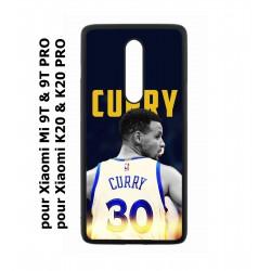 Coque noire pour Xiaomi Mi 9T - Mi 9T PRO - Redmi K20 - K20 PRO Stephen Curry Golden State Warriors Basket 30