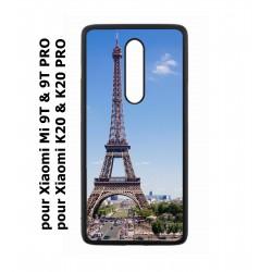 Coque noire pour Xiaomi Mi 9T - Mi 9T PRO - Redmi K20 - K20 PRO Tour Eiffel Paris France
