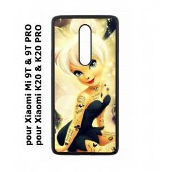 Coque noire pour Xiaomi Mi 9T - Mi 9T PRO - Redmi K20 - K20 PRO fée Clochette tatouée